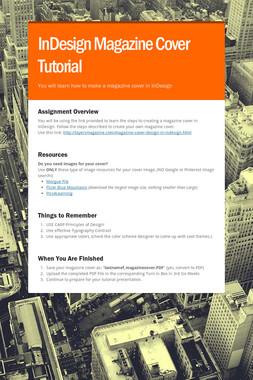 InDesign Magazine Cover Tutorial
