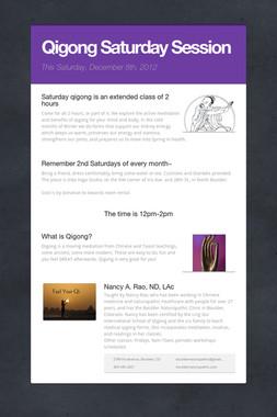 Qigong Saturday Session