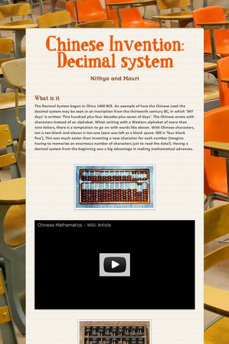 Chinese Invention: Decimal system