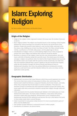 Islam: Exploring Religion