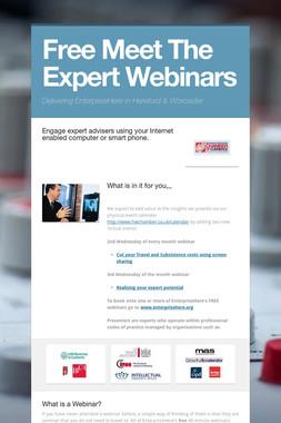 Free Meet The Expert Webinars