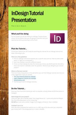 InDesign Tutorial Presentation
