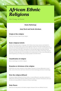 African Ethnic Religions