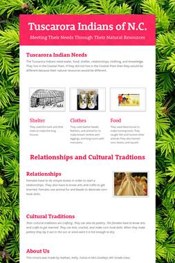 Tuscarora Indians of N.C.
