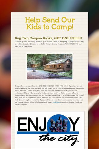 Help Send Our Kids to Camp!