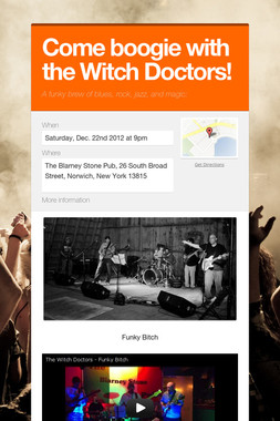 Come boogie with the Witch Doctors!