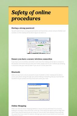 Safety of online procedures
