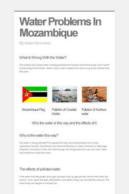 Water Problems In Mozambique