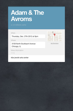 Adam & The Avroms