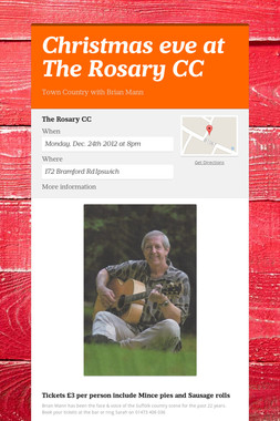 Christmas eve at The Rosary CC