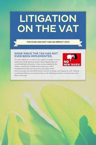 Litigation on the VAT