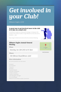 Get involved in your Club!