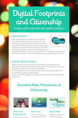 Digital Footprints and Citizenship