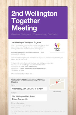 2nd Wellington Together Meeting
