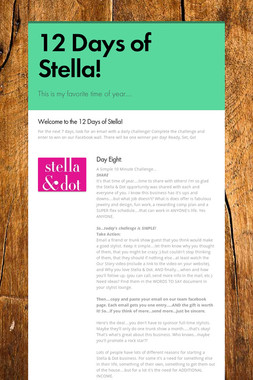 12 Days of Stella!