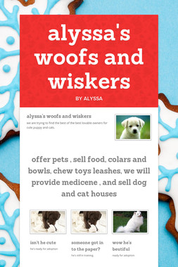 alyssa's woofs and wiskers