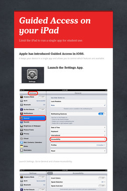 Guided Access on your iPad