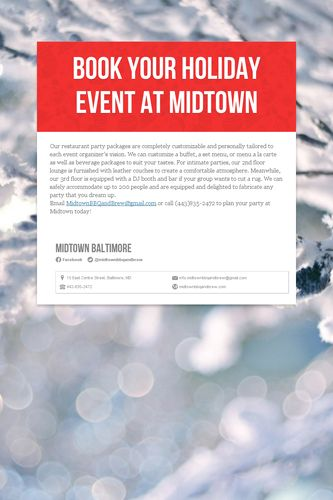 Book your Holiday Event at Midtown