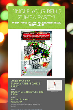 JINGLE YOUR BELLS ZUMBA PARTY!