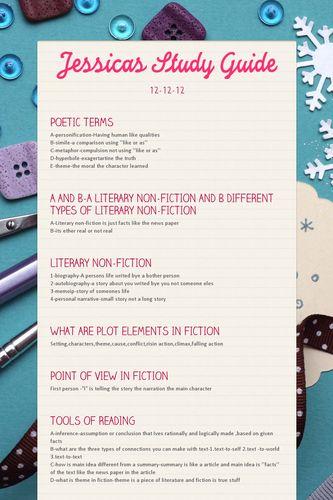Jessicas Study Guide