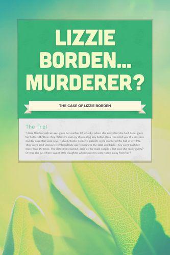 Lizzie Borden... Murderer?