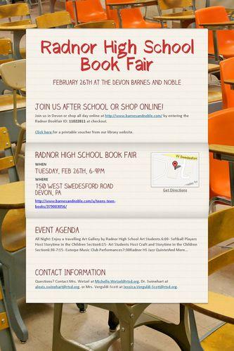 Radnor High School Book Fair