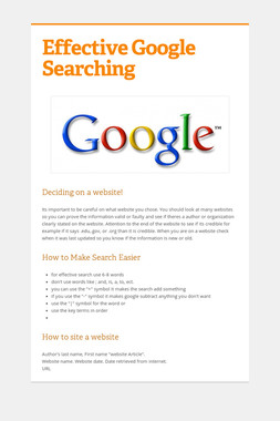Effective Google Searching
