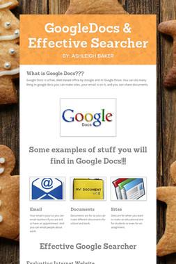 GoogleDocs & Effective Searcher