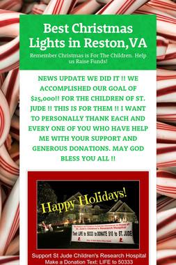 Best Christmas Lights in Reston,VA