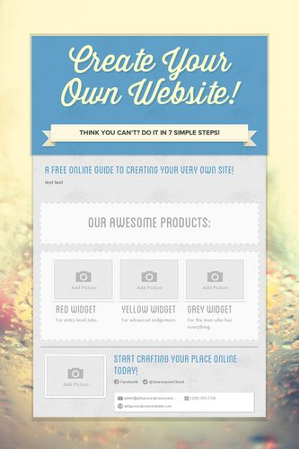 Create Your Own Website!