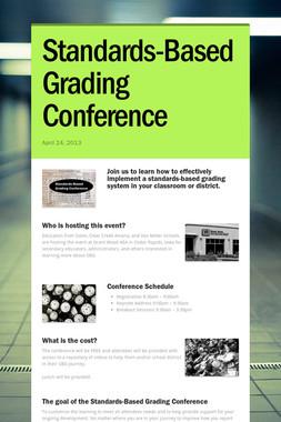Standards-Based Grading Conference
