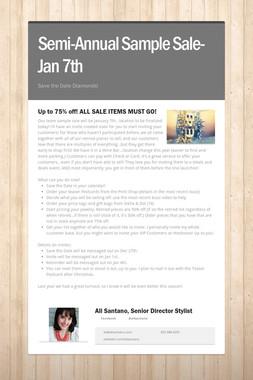 Semi-Annual Sample Sale-Jan 7th