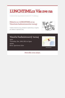 LUNCHTIME.cz Vás zve na