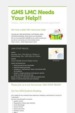 GMS LMC Needs Your Help!!