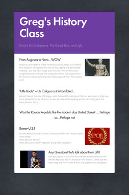Greg's History Class