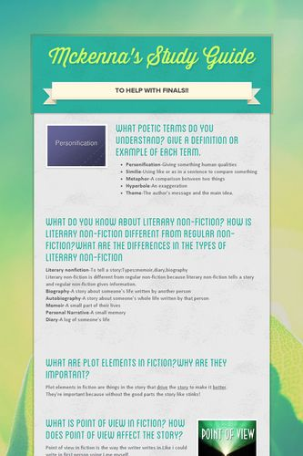 Mckenna's Study Guide