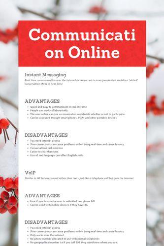 Communication Online