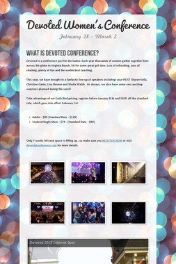 Devoted Women's Conference