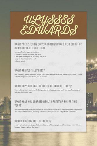 ULYSSES EDWARDS