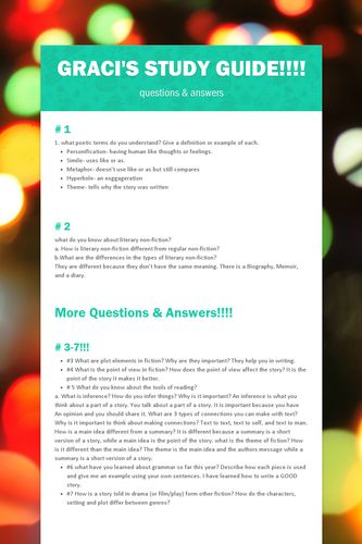 Graci's study guide!!!!