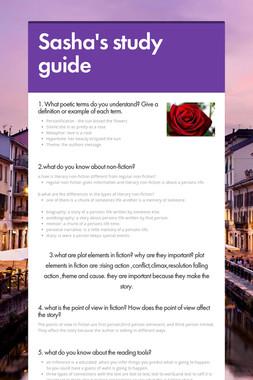 Sasha's study guide