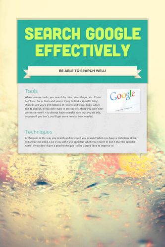 Search Google Effectively