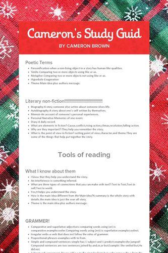 Cameron's Study Guid