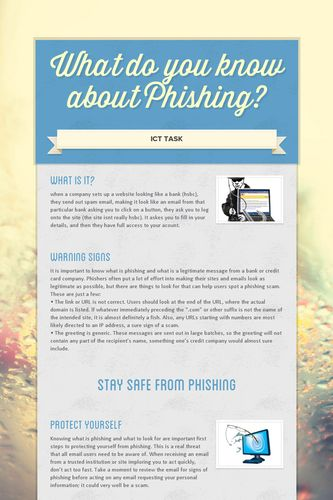 What do you know about Phishing?