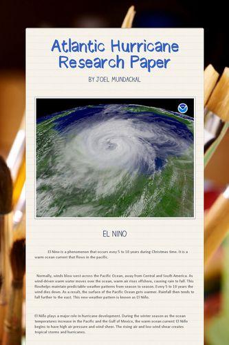 Atlantic Hurricane Research Paper
