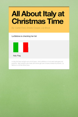 All About Italy at Christmas Time
