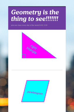 Geometry is the thing to see!!!!!!!