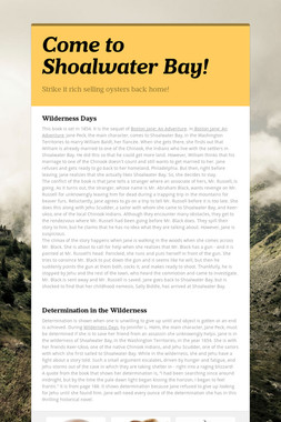 Come to Shoalwater Bay!