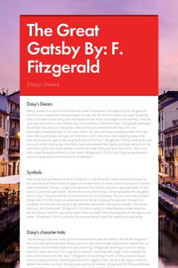 The Great Gatsby By: F. Fitzgerald