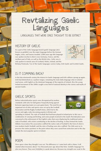 Revtalizing Gaelic Languages